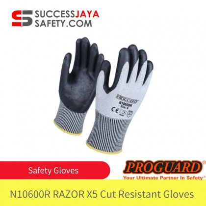 Safety Gloves Polyester Latex Hand Protection x5